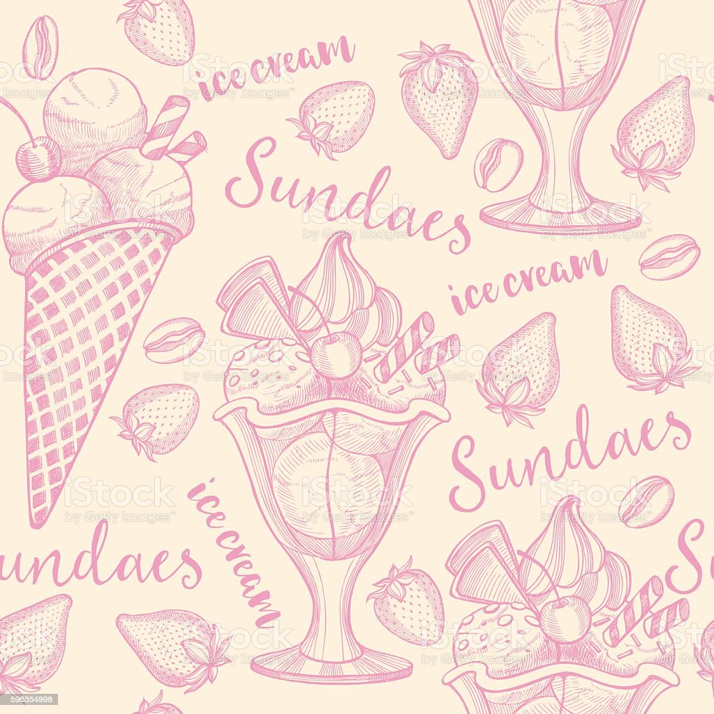 Ice cream seamless pattern background. royalty-free ice cream seamless pattern background stock vector art & more images of abstract