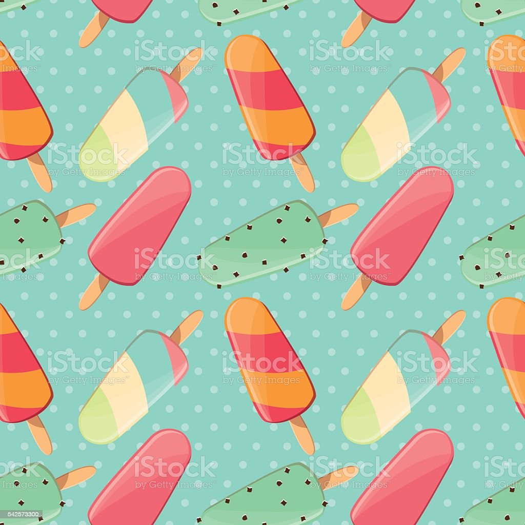 Dessert Yummy Ice Cream Wallpapers: Ice Cream Seamless Pattern Colorful Summer Background