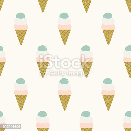 Ice Cream Seamless Pattern Cute Wrapping Paper Stock Vector Art