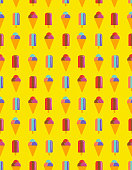 Ice Cream Seamless Vector Pattern
