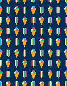 Ice Cream Seamless Vector Pattern