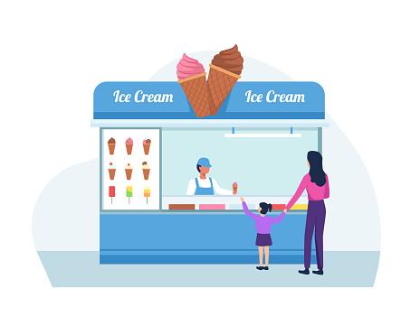 Ice cream shop concept