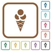 Ice cream simple icons
