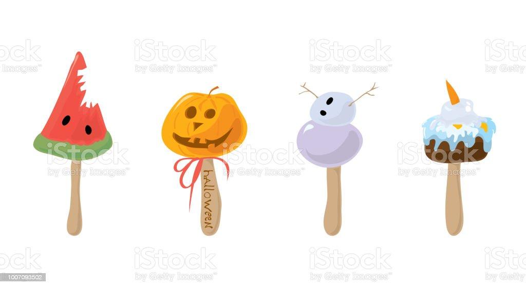 Halloween Ijs.Ijs Stijl Halloween Stockvectorkunst En Meer Beelden Van