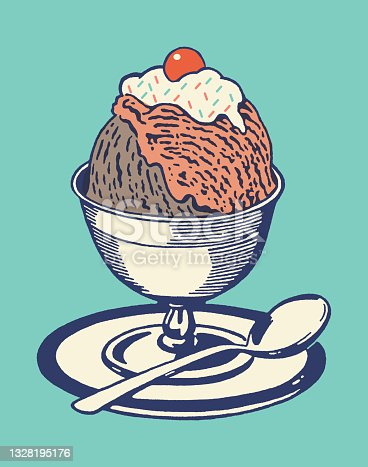 istock Ice Cream Sundae 1328195176