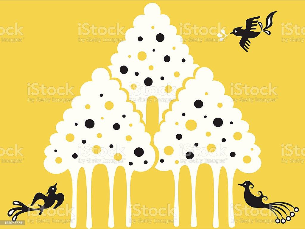 Ice Cream Tree & Birds royalty-free ice cream tree birds stock vector art & more images of abstract