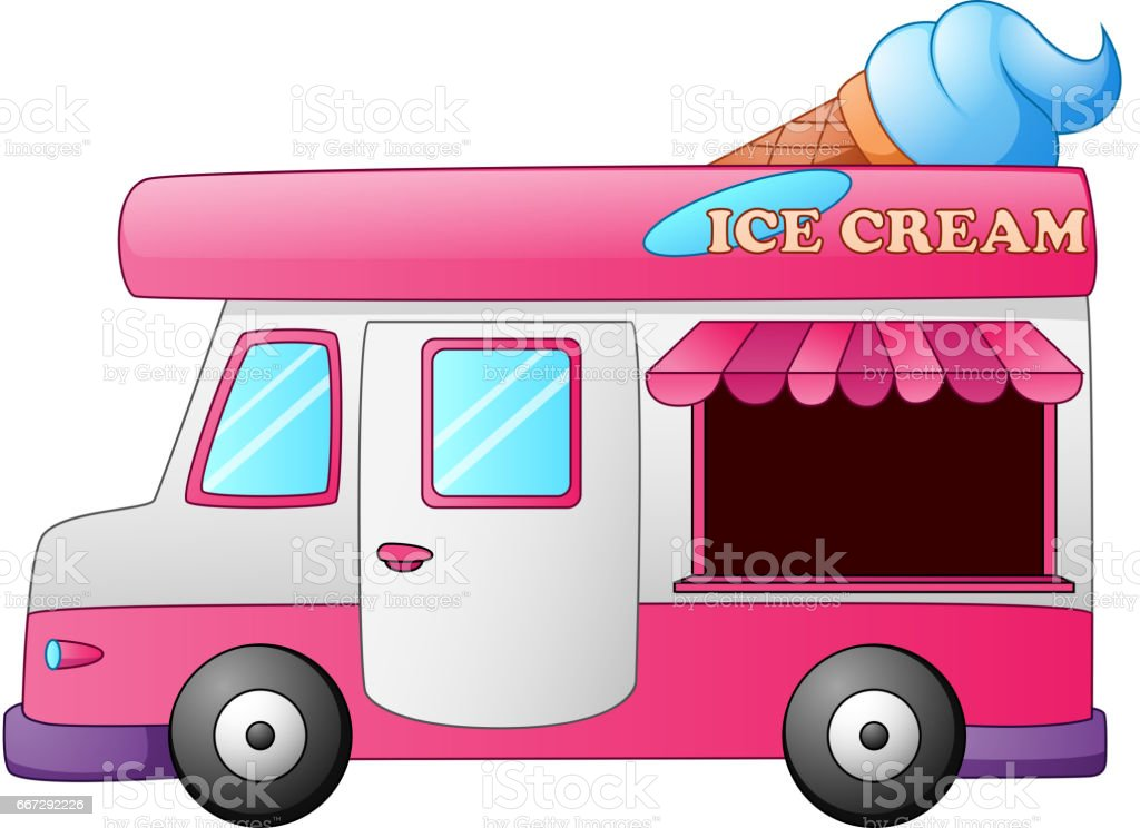 Ice Cream Truck With Cone On Top Royalty Free