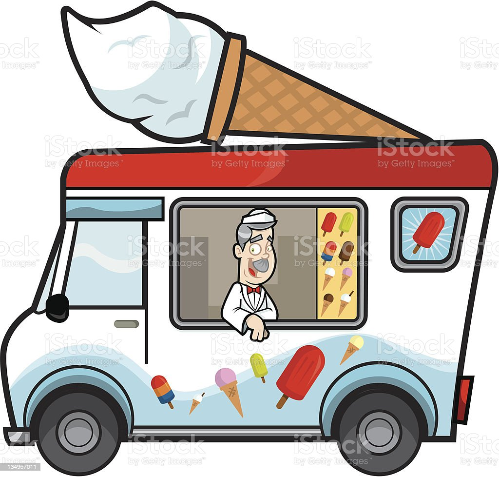 Ice Cream Van Royalty Free Stock Vector Art Amp More Images