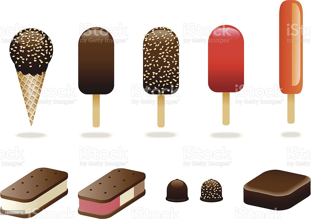 Ice Cream Variety Pack vector art illustration