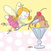 Fairy  and  Ice Cream.
