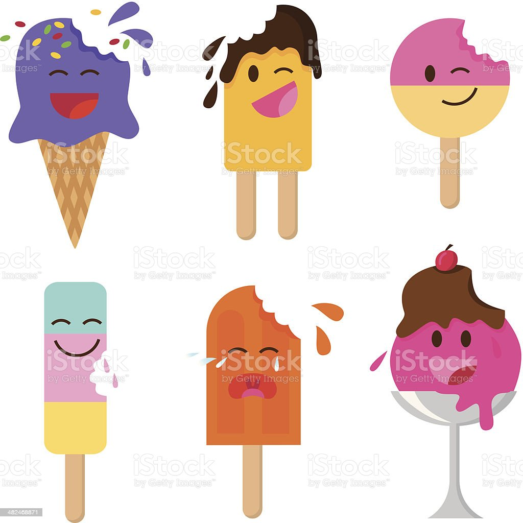 ice creams vector art illustration
