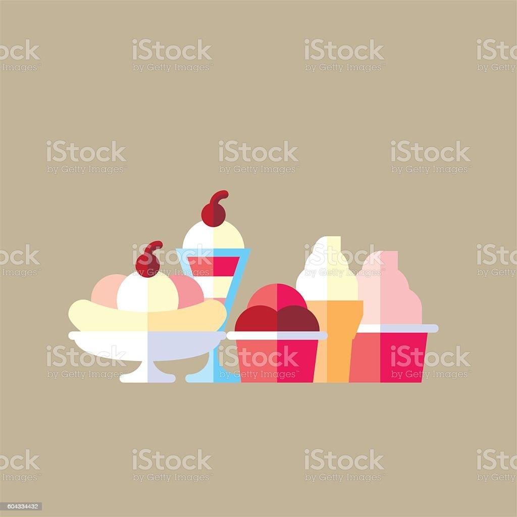 Ice Creams vector art illustration