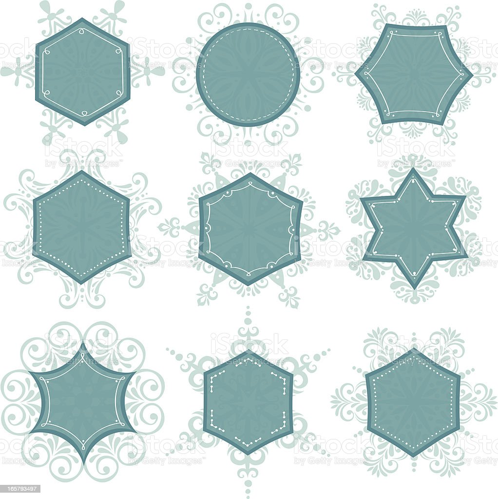 0b0d238818fa Ice Crystal Frames royalty-free ice crystal frames stock vector art  amp   more images