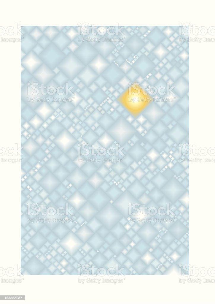 Ice crystal winter background vector art illustration