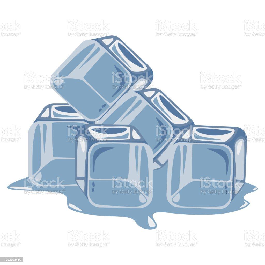 Vetores De Ilustracao De Desenho Vetorial Cubo Isolada Em Um Fundo