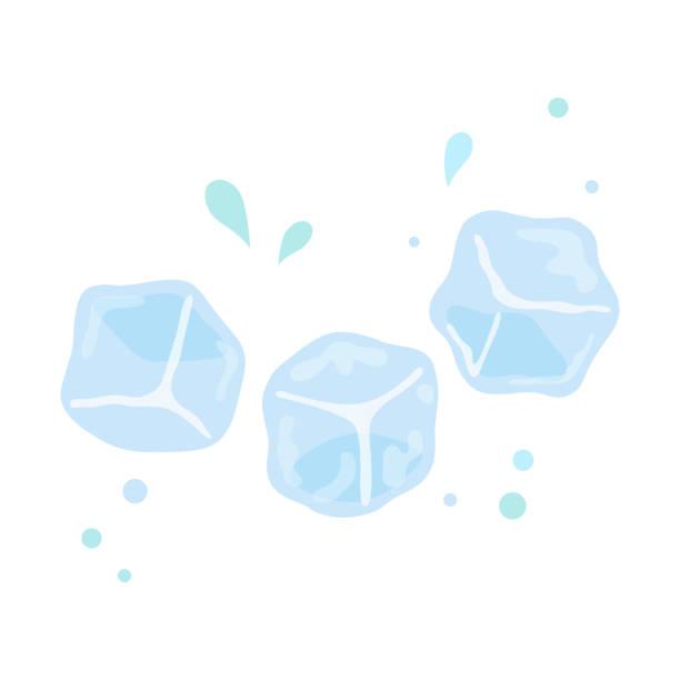 ilustrações de stock, clip art, desenhos animados e ícones de ice cubes on white background - ice