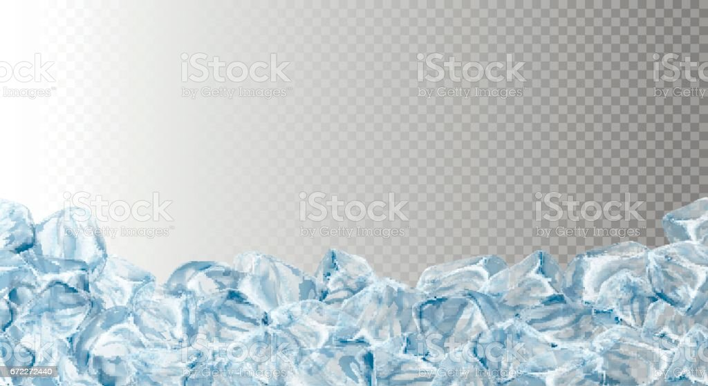 Ice cubes, realistic set.
