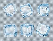 istock Ice cubes vector set 1075283576