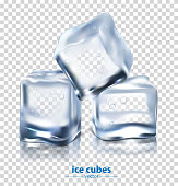 Ice cubes, vector