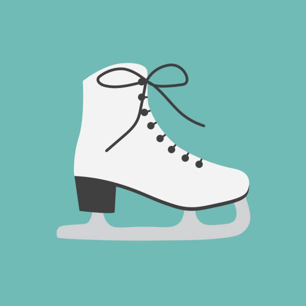 ice figure skate icon ice figure skate icon- vector illustration figure skating stock illustrations