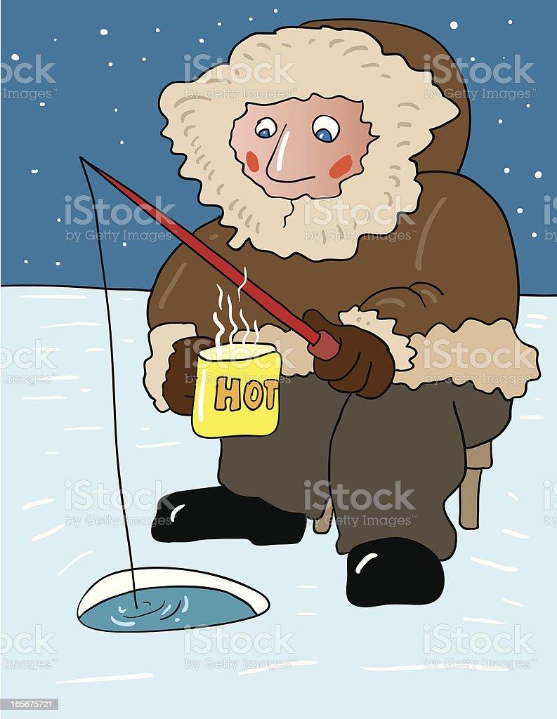 Ice Fishing royalty-free stock vector art