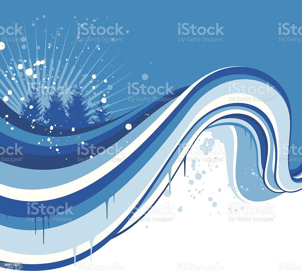 ice flow royalty-free stock vector art