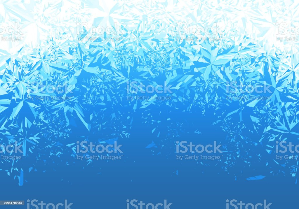 Ice frosted background vector art illustration