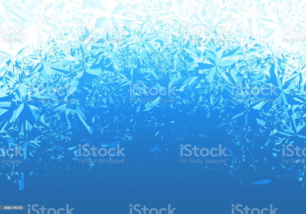 Eis, gefrostet-Hintergrund – Vektorgrafik
