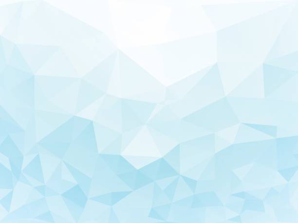 ice geometric wallpaper vector art illustration