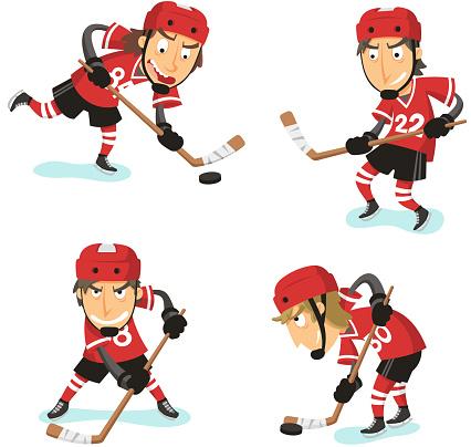 Ice Hockey Action Set