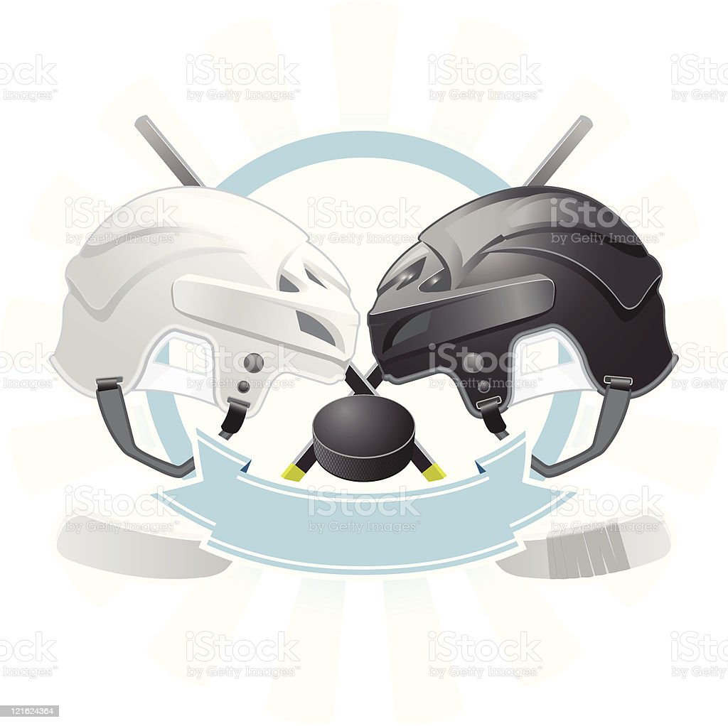 Ice Hockey emblem royalty-free stock vector art