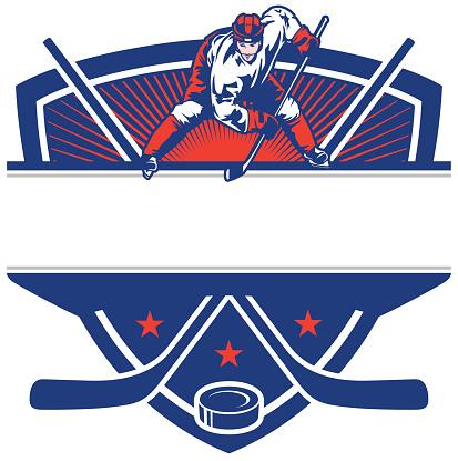 Ice Hockey Face Off Crest