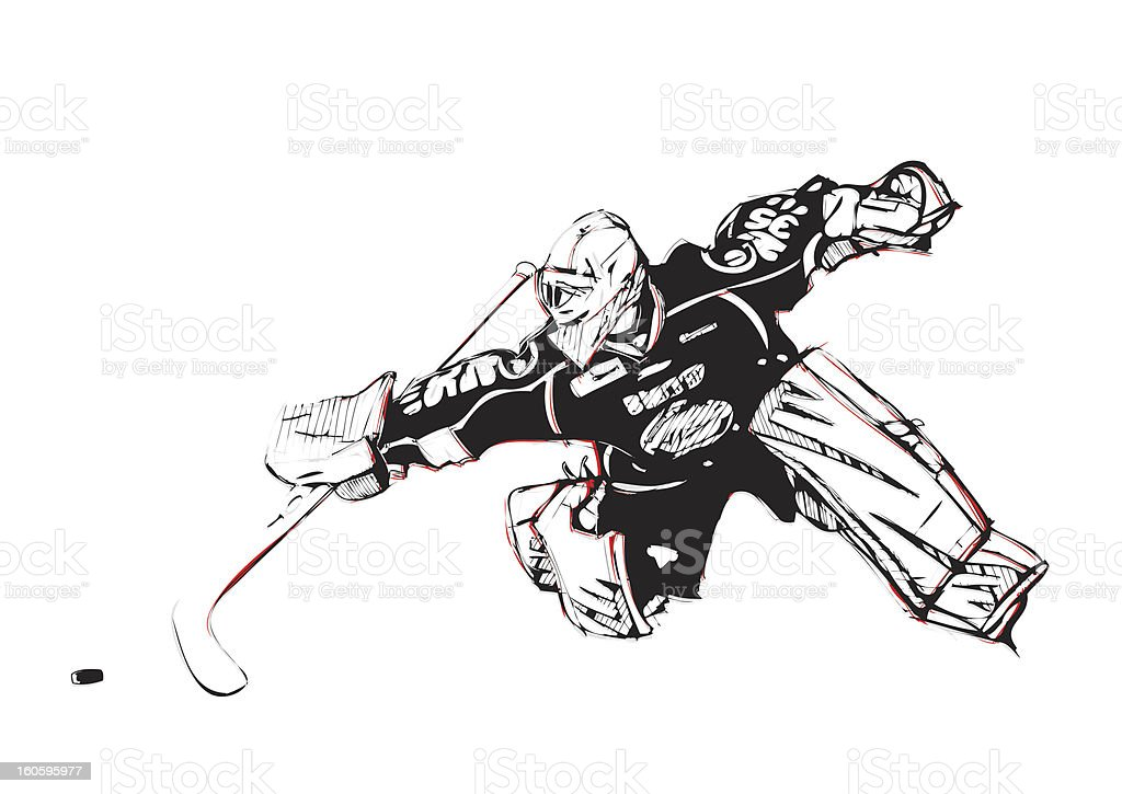 Ice Hockey Goalkeeper royalty-free stock vector art