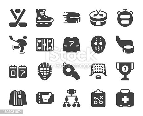 istock Ice Hockey - Icons 1305031674