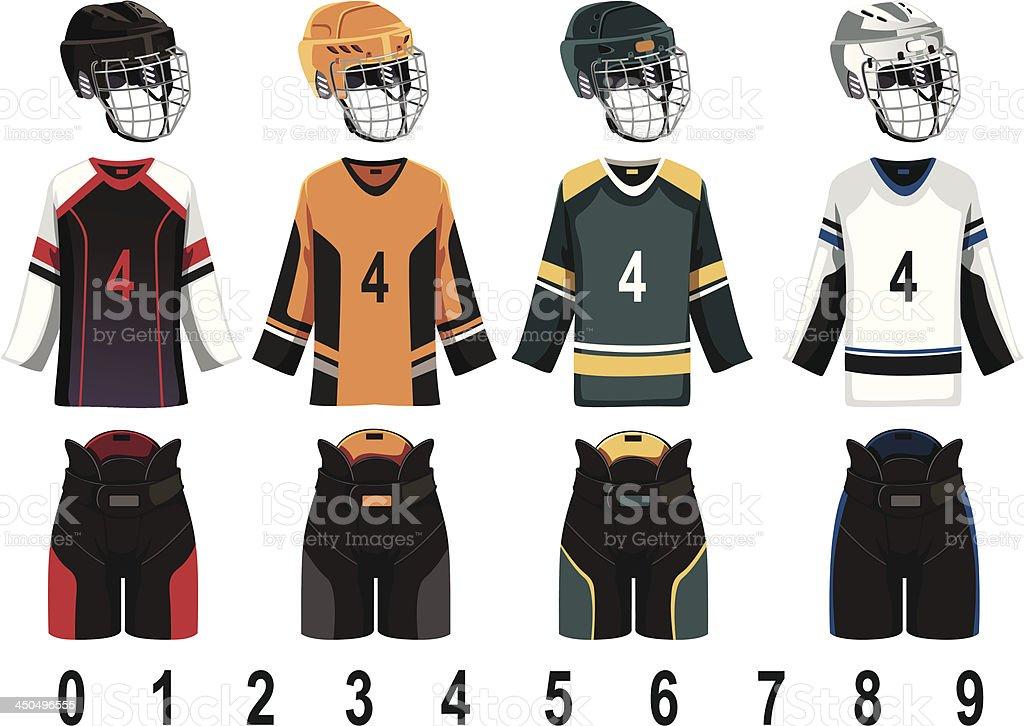 Ice hockey jersey royalty-free stock vector art