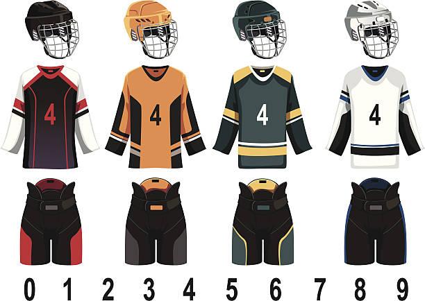 Ice hockey jersey vector art illustration