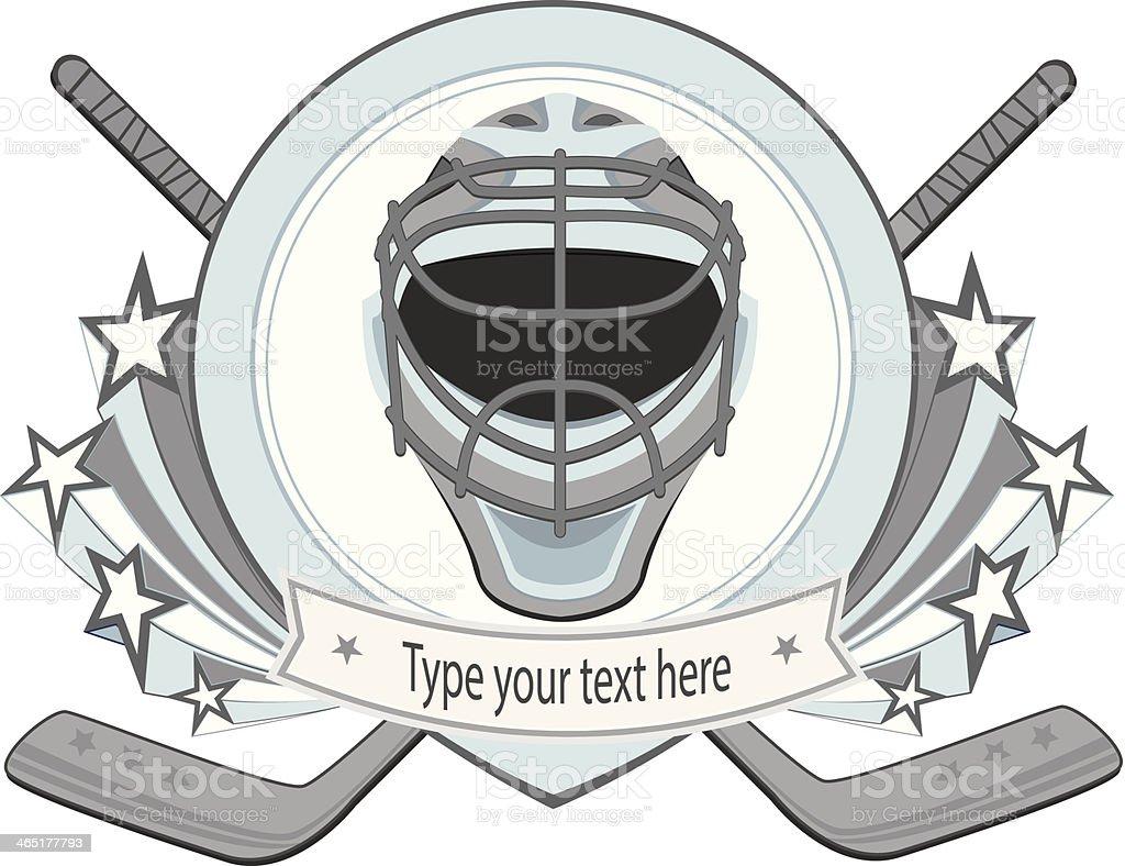 Ice hockey labels for prize badges vector art illustration