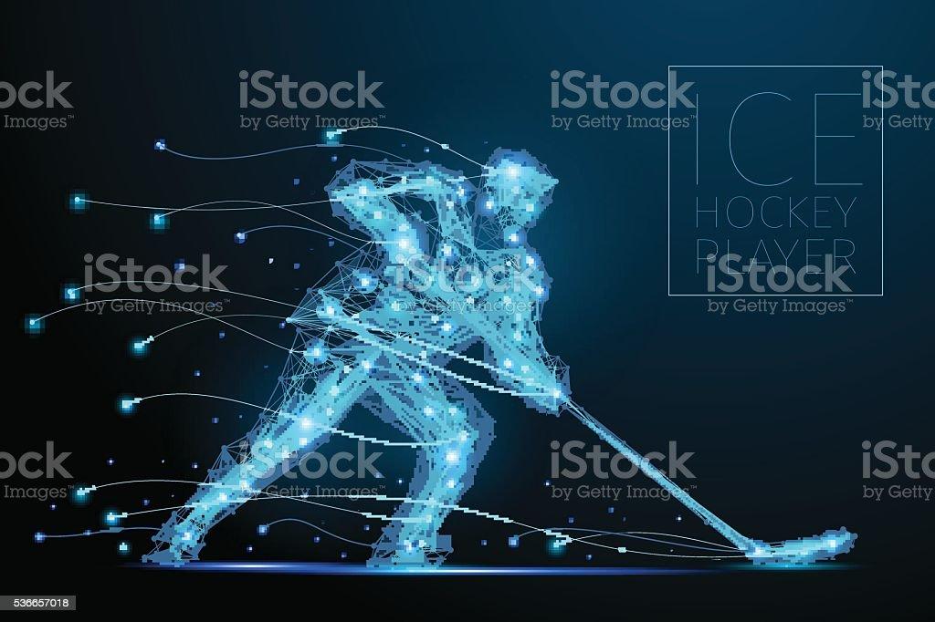 ice hockey player vector art illustration