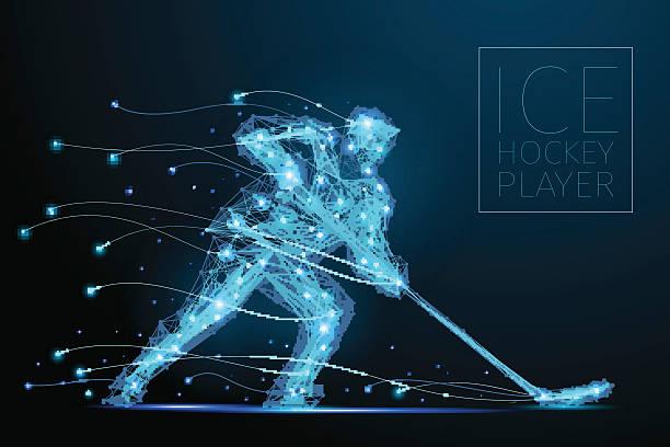 ilustraciones, imágenes clip art, dibujos animados e iconos de stock de jugador de hockey sobre hielo - hockey