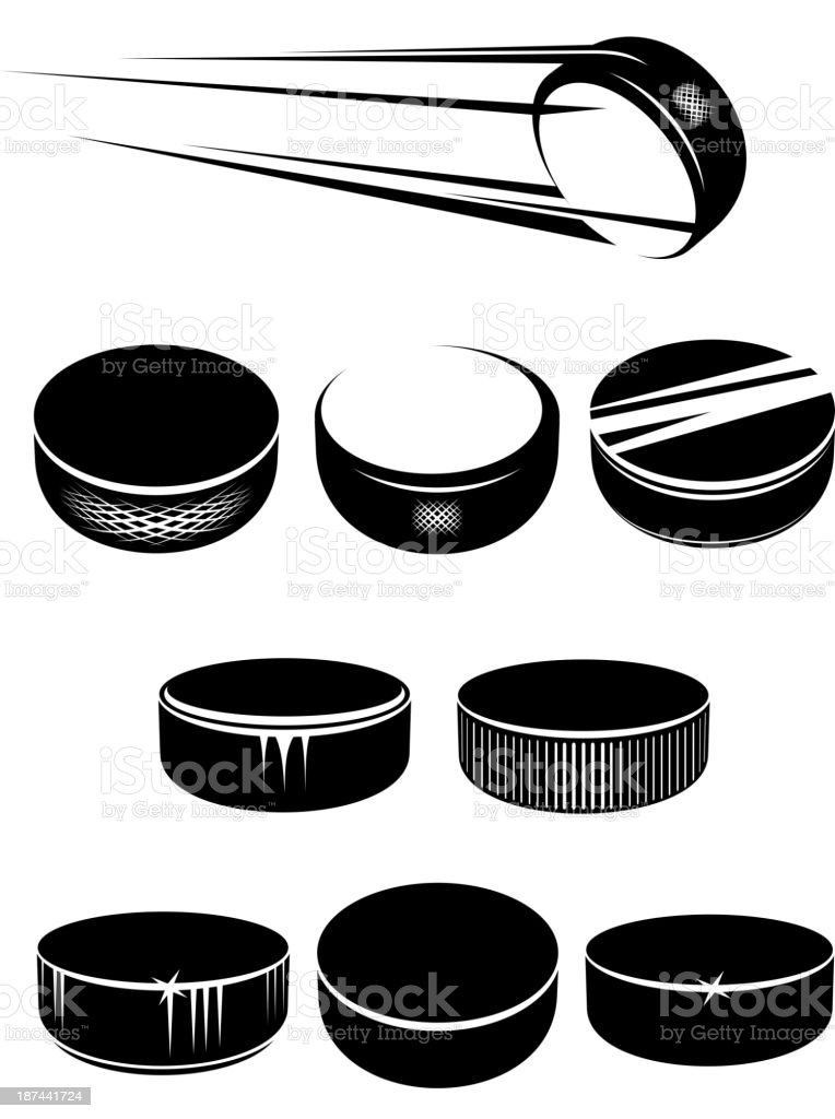 royalty free hockey puck clip art vector images illustrations rh istockphoto com clipart hockey stick and puck hockey puck clipart vector