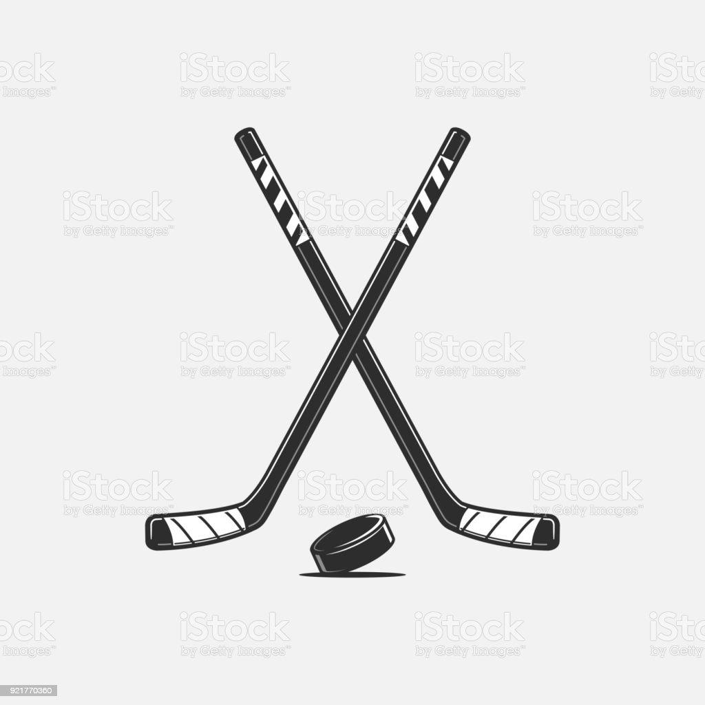 Ice Hockey vector art illustration