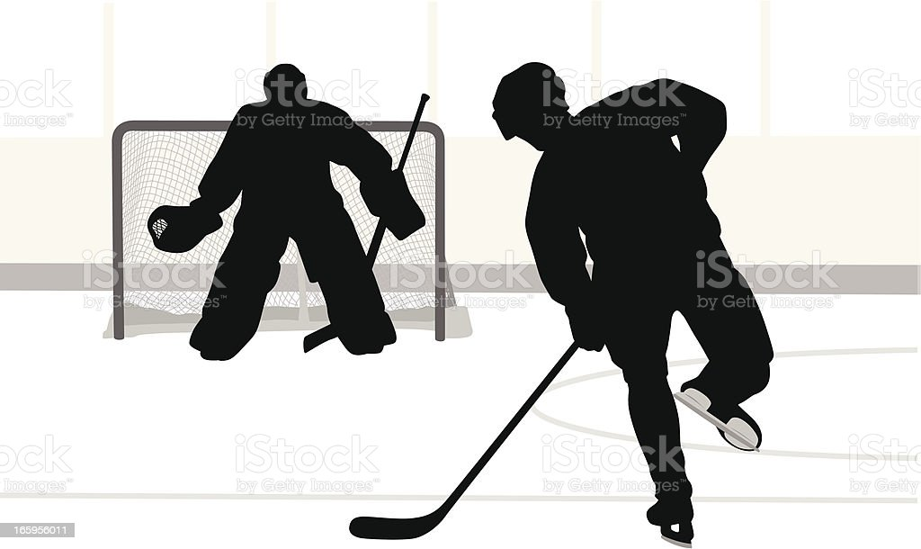 Ice Hockey Vector Silhouette royalty-free ice hockey vector silhouette stock vector art & more images of adult