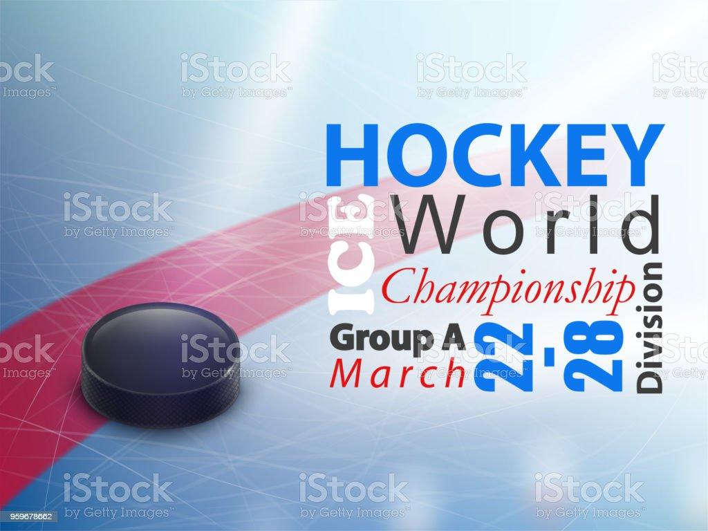 Ice hockey world championship vector banner vector art illustration