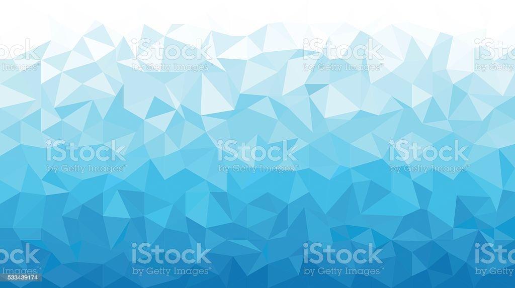 Ice Polygonal Mosaic Background 16:9 vector art illustration