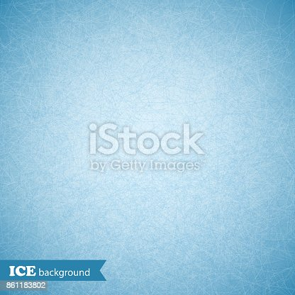 istock Ice scratched background, texture, pattern. Vector illustration 861183802