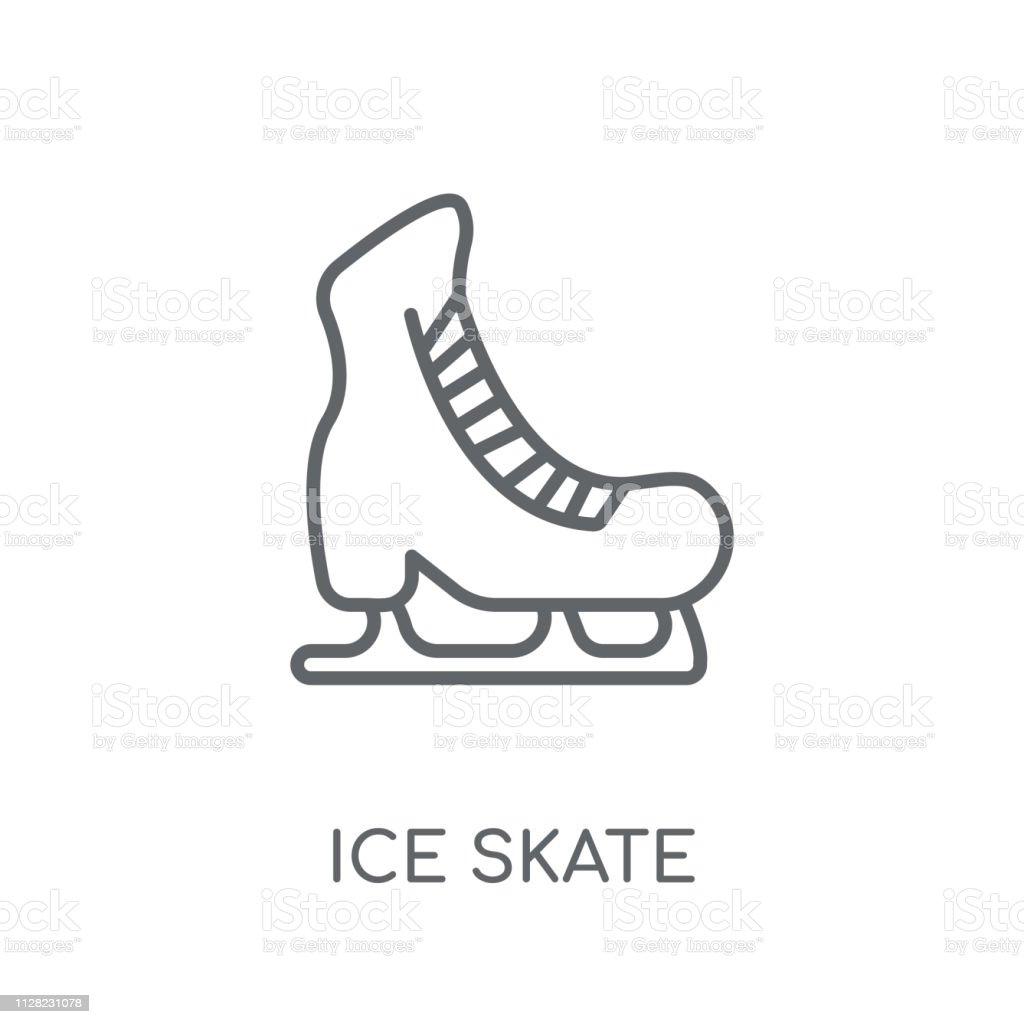 Ice skate linear icon. Modern outline Ice skate logo concept on white...