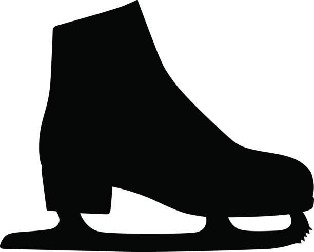Ice skate Available in high-resolution and several sizes to fit the needs of your project. figure skating stock illustrations