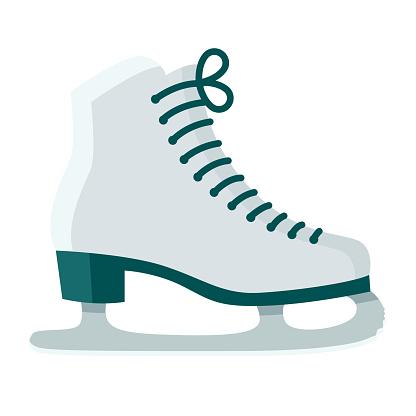 Ice Skates Icon on Transparent Background