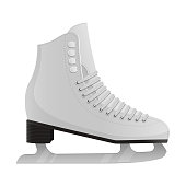 Beautiful vector design illustration of ice skates isolated on white background