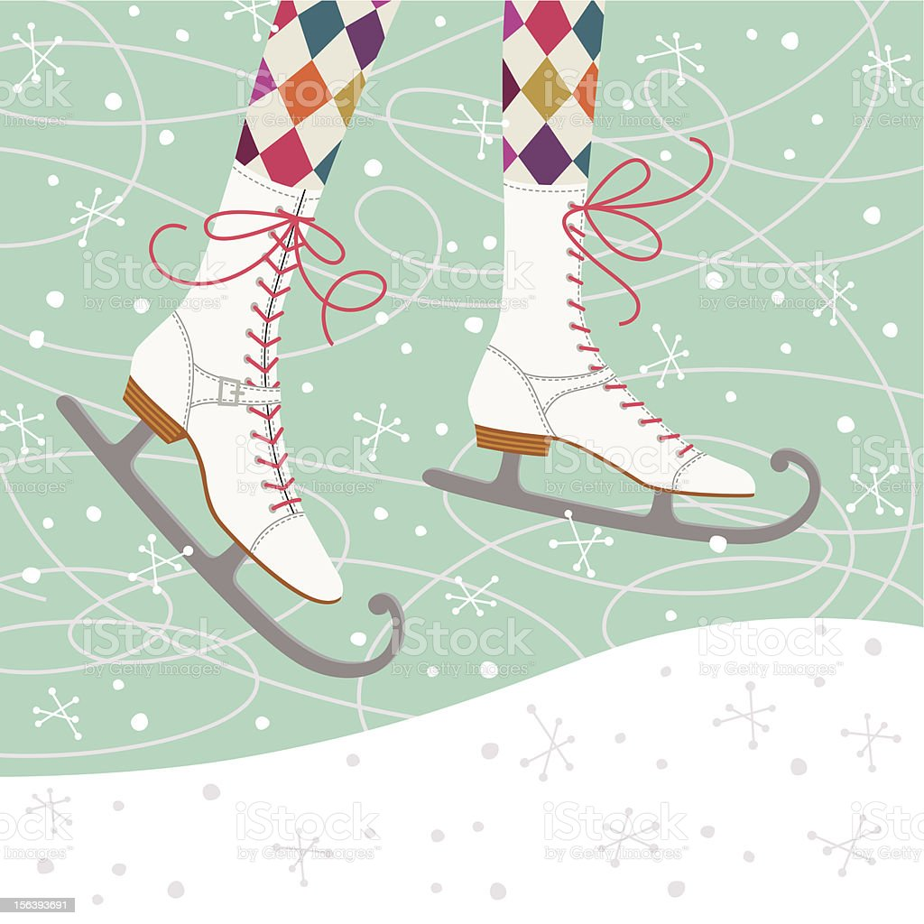 Ice Skates royalty-free stock vector art